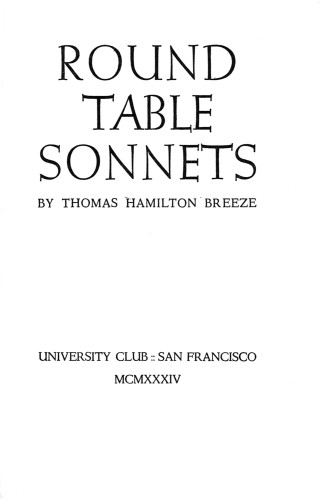 Round Table Sonnets