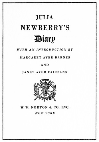 Julia Newberry's Diary