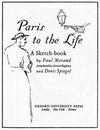Paris to the Life, A Sketch Book
