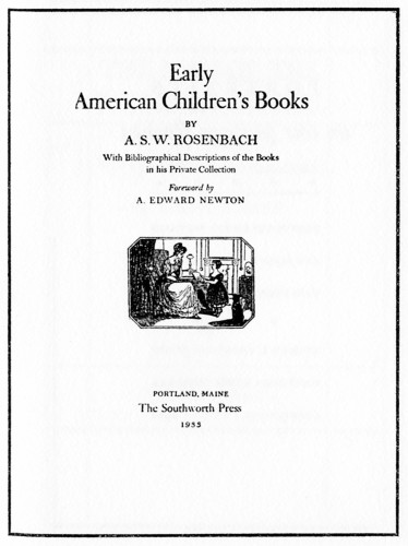 Early American Children's Books