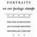 Portraits on Our Postage Stamps, Some Notes on the Paintings and Sculptures from Which They Derive, And a Check-list
