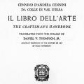 Il Libro Dell' Arte, The Craftsman's Handbook