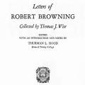 Letters of Robert Browning