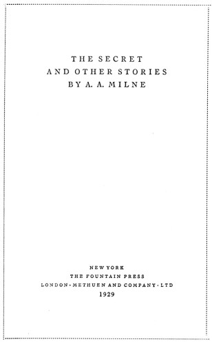 The Secret, and Other Stories