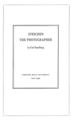 Steichen the Photographer