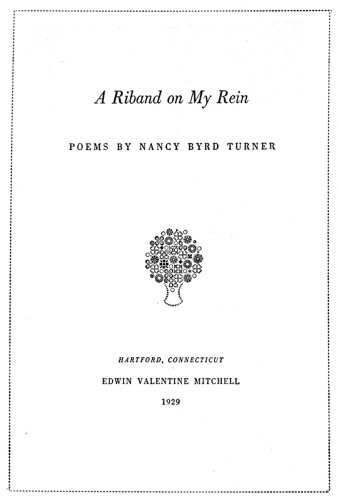 A Riband on My Rein: Poems