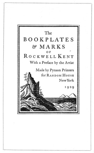 The Bookplates and Marks of Rockwell Kent