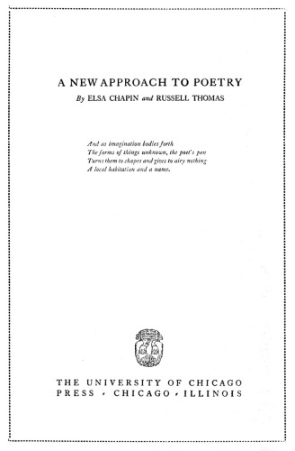 A New Approach to Poetry