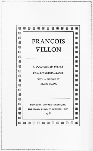 François Villon: A Documented Survey