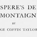 Shakespeare's Debt to Montaigne