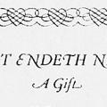 That Endeth Never: A Gift, Christmas 1921