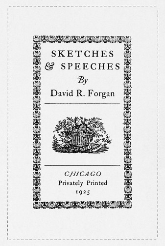 Sketches and Speeches