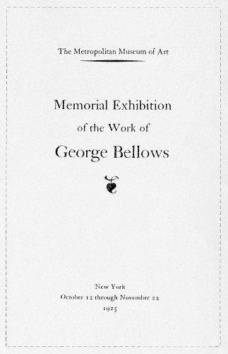 Memorial Exhibition of the Work of George Bellows