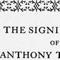 The Significance of Anthony Trollope