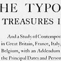 The Typographic Treasures in Europe