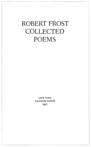 critical essays on robert frost poems