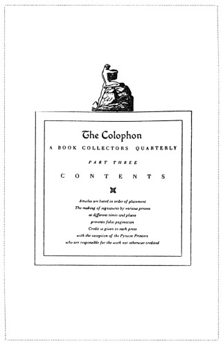The Colophon: A Book Collector's Quarterly