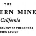 The Southern Mines of California: Early Development of the Sonora Mining Region