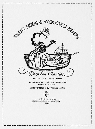 Iron Men and Wooden Ships: Deep Sea Chanties
