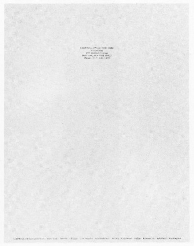 Campbell-Ewald, New York letterhead