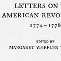 Letters on the American Revolution, 1774–1776