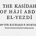 The Kasîdah of Hâjî Abdû El-Yezdî