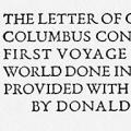 The Letter of Christopher Columbus, Concerning His First Voyage to the New World, Done into English