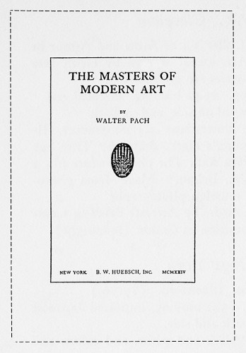 The Masters of Modern Art