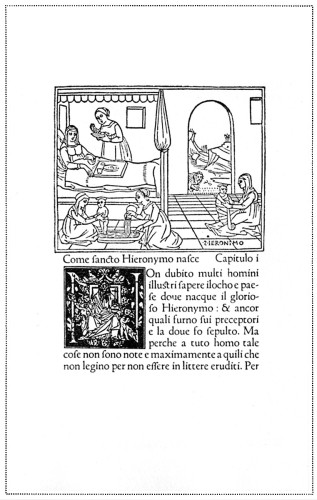 Vita de Sancto Hieronymo, Reprint of the Life of St. Jerome, in Italian, which is found in few copies only of the edition of his Letters printed at Ferrara by Lorenzo de Rossi in 1497