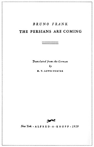 The Persians Are Coming