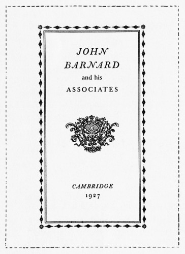 John Barnard and His Associates