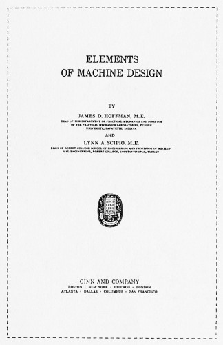 Elements of Machine Design