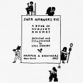 Jack Horner's Pie: A Book of Nursery Rhymes