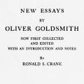 New Essays by Oliver Goldsmith