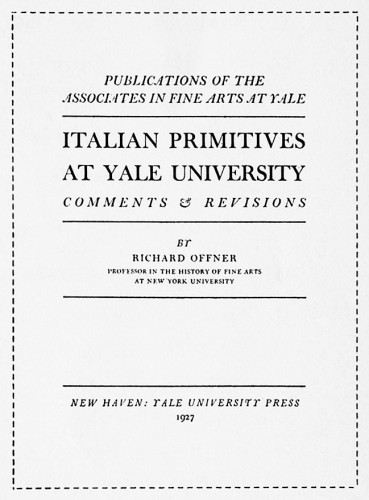 Italian Primitives at Yale University