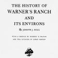 The History of Warner's Ranch and Its Environs