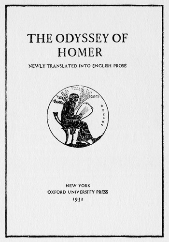 The Odyssey of Homer, Newly Translated into English Prose