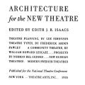 Architecture for the New Theatre