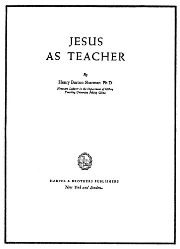 Jesus as Teacher