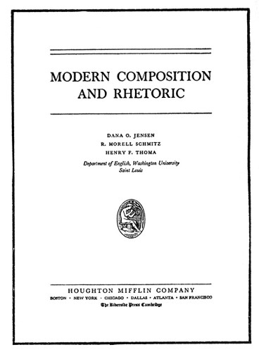Modern Composition and Rhetoric