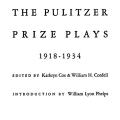 The Pulitzer Prize Plays, 1918-1934