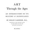 Art Through the Ages, An Introduction to its History and Significance