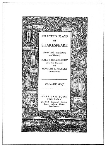 Selected Plays of Shakespeare