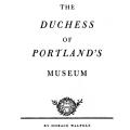 The Duchess of Portland's Museum
