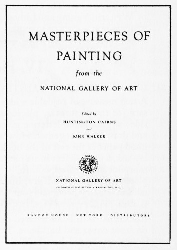 Masterpieces of Painting from the National Gallery of Art