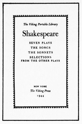 The Viking Portable Library Shakespeare