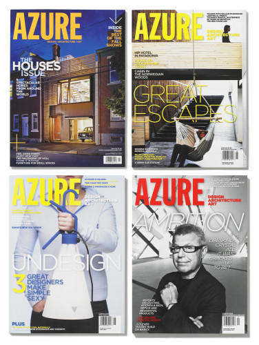 Azure Magazine June 2007, July/August 2007, September 2007, January/February 2008, Magazine