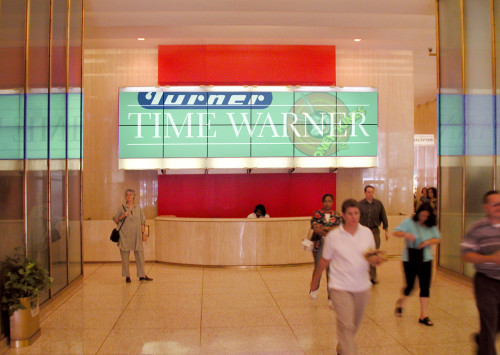 Time Warner Lobby Signage