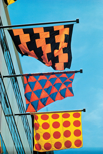 MoMA flags