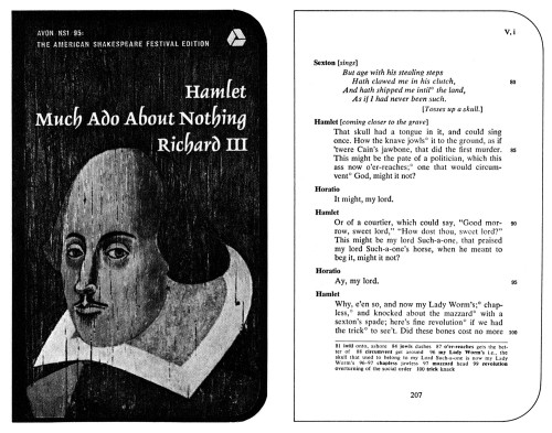 Hamlet, Much Ado About Nothing, Richard III
